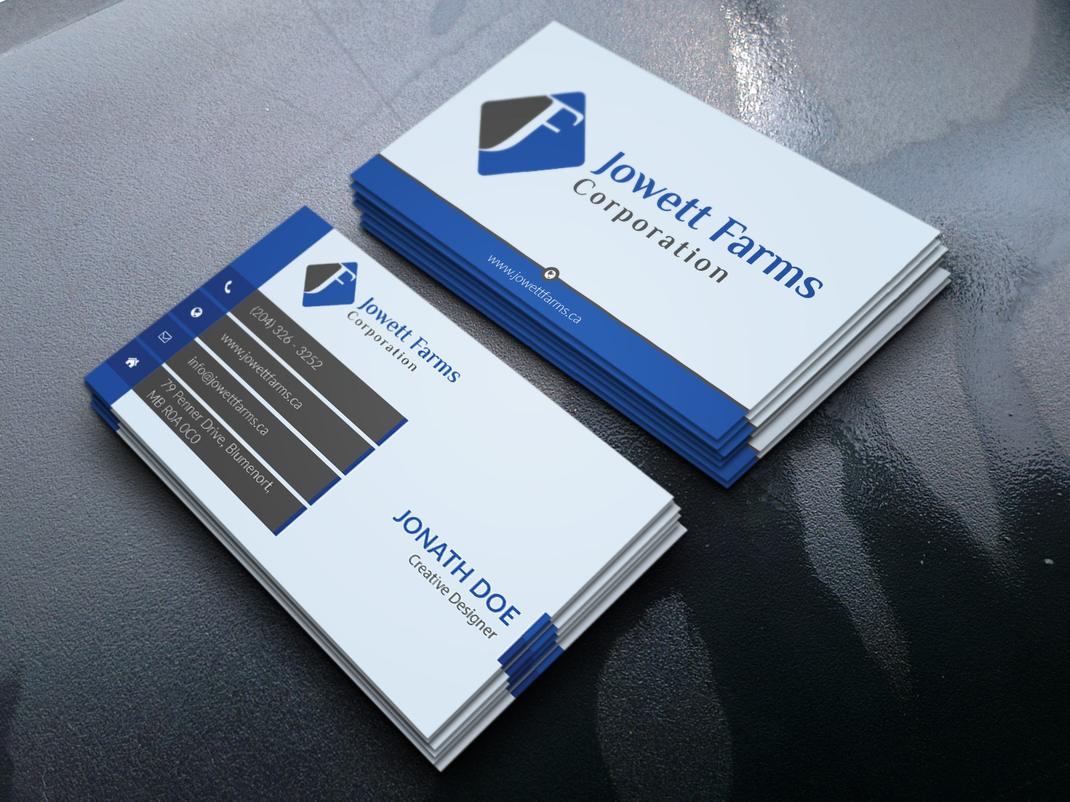 Professional serious wholesale business card design for jowett business card design by designstudio937 for jowett farms corporation design 14469634 reheart Choice Image