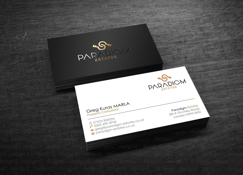Elegant Serious Real Estate Agent Business Card Design For Plasso