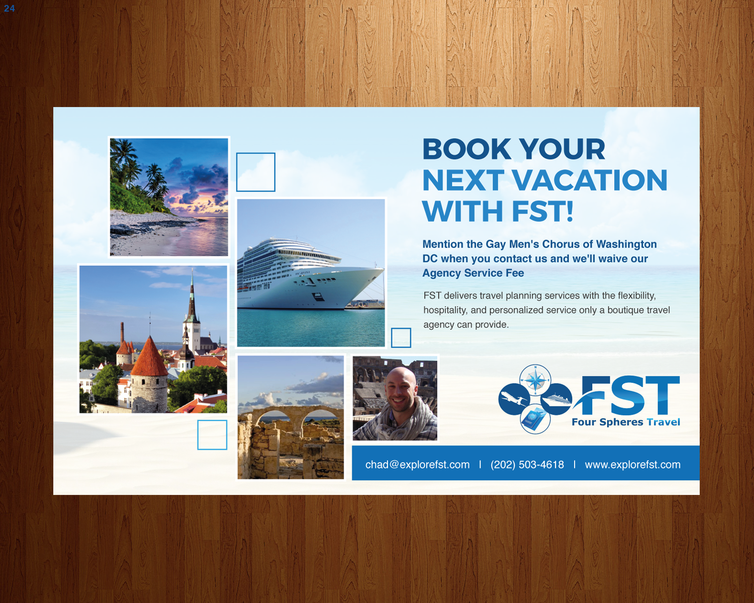 Advertisement Design By Uniquedesign10 For Four Spheres Travel