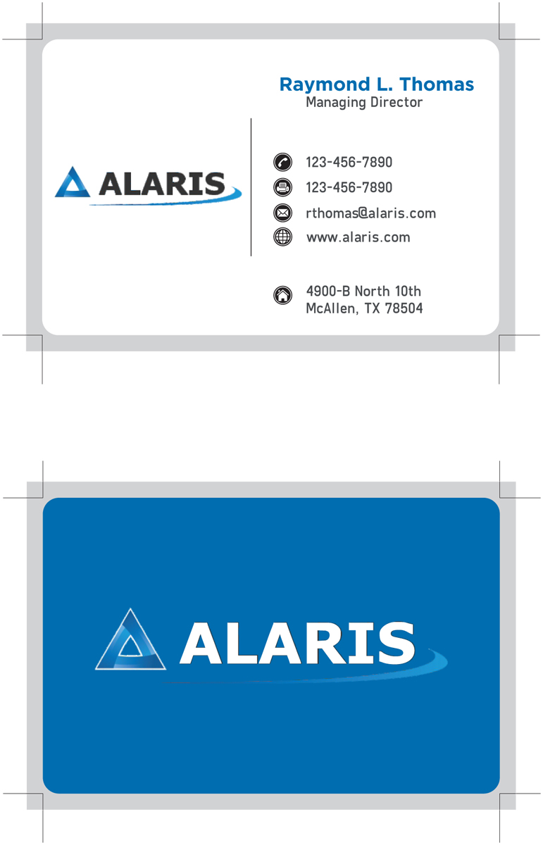 Bold, Serious Business Card Design for Alaris by ankur | Design #2691300