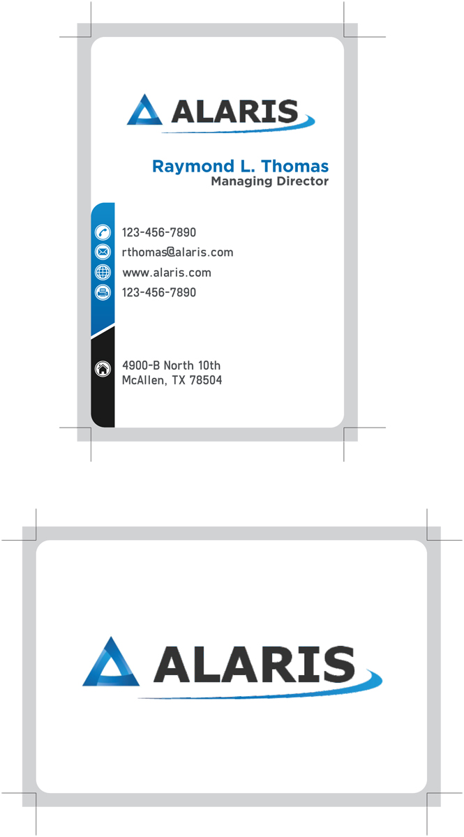 Bold, Serious Business Card Design for Alaris by ankur | Design ...