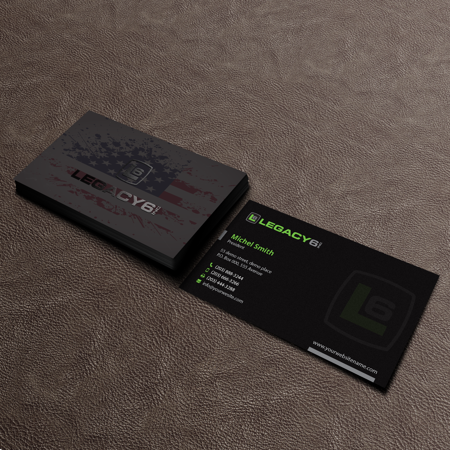 bold serious business card design for mike by right d
