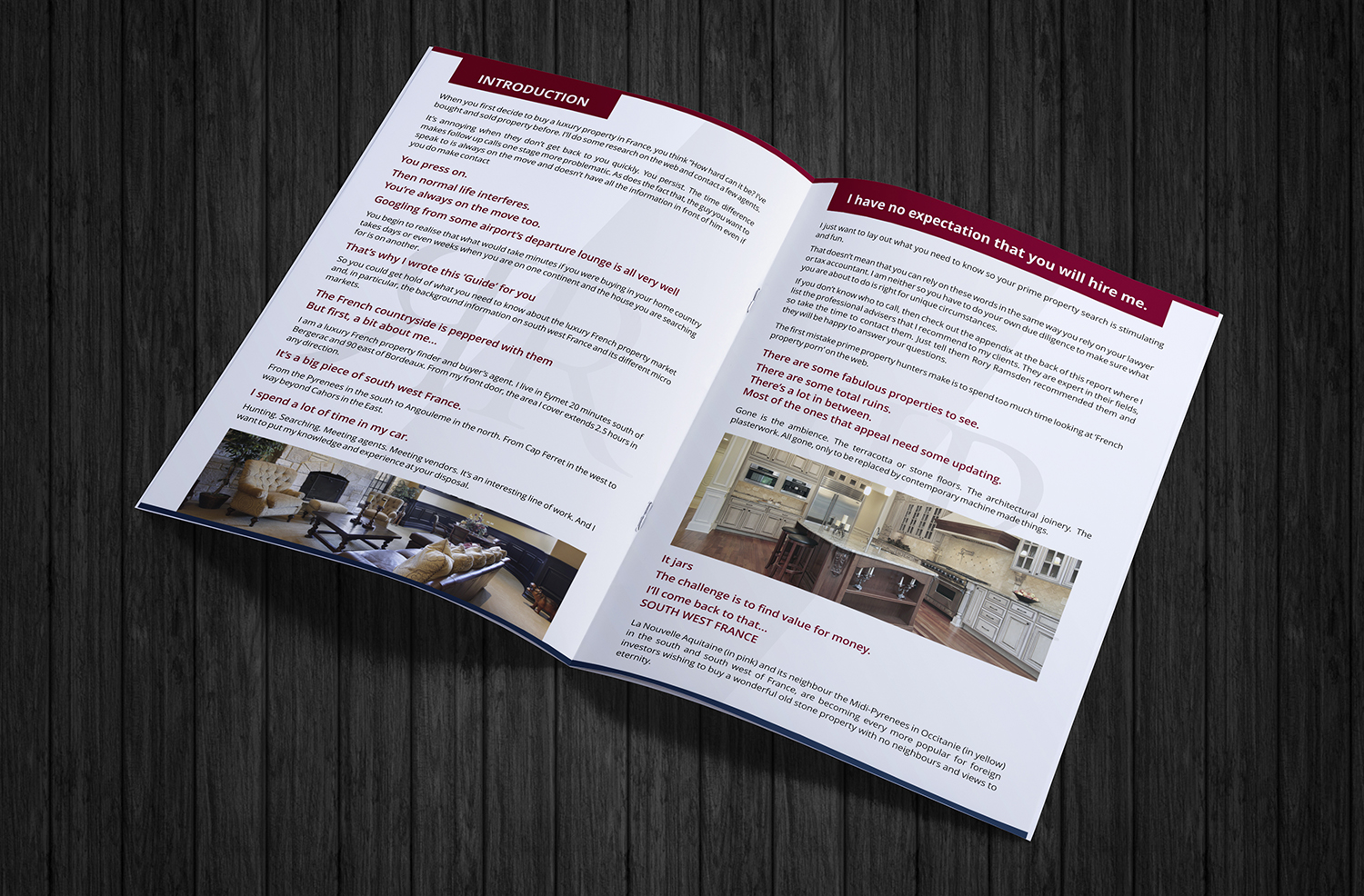Upmarket, Serious, Property Brochure Design for Charles Ramsden by