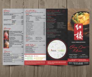 modern upmarket menu design job menu brief for chamber red chinese