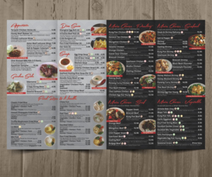 chinese menu design galleries for inspiration
