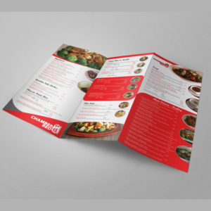 modern upmarket menu design for chamber red chinese bistro by cut