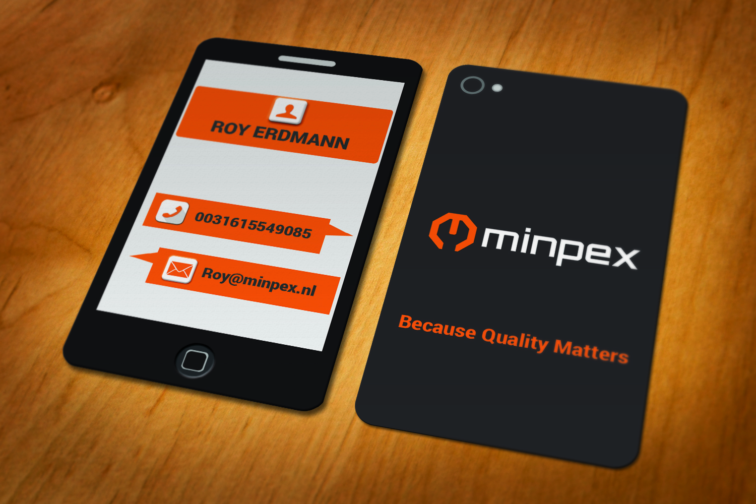 Elegant playful business business card design for minpex bv by business card design by momoothoi for minpex bv design 14487864 colourmoves