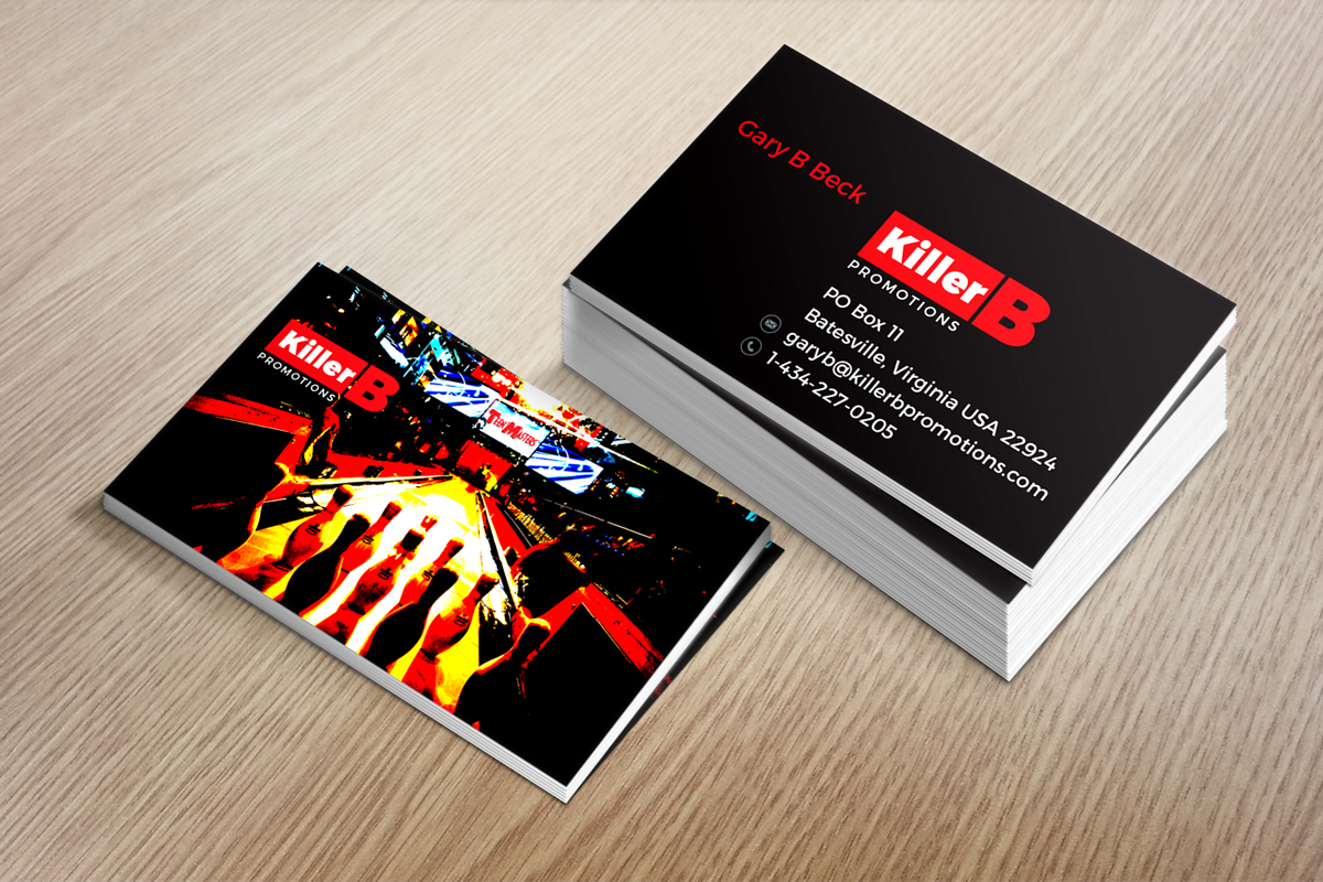 Modern, Masculine, Business Business Card Design for Killer \'\'B ...