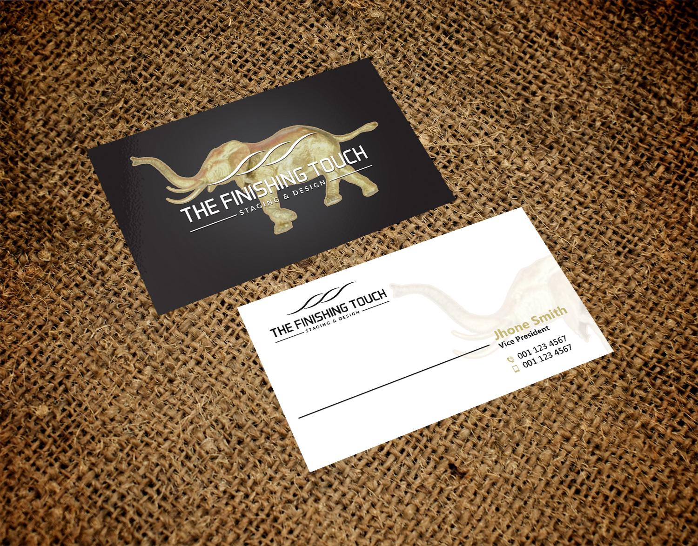 Modern Elegant Real Estate Business Card Design For The Finishing