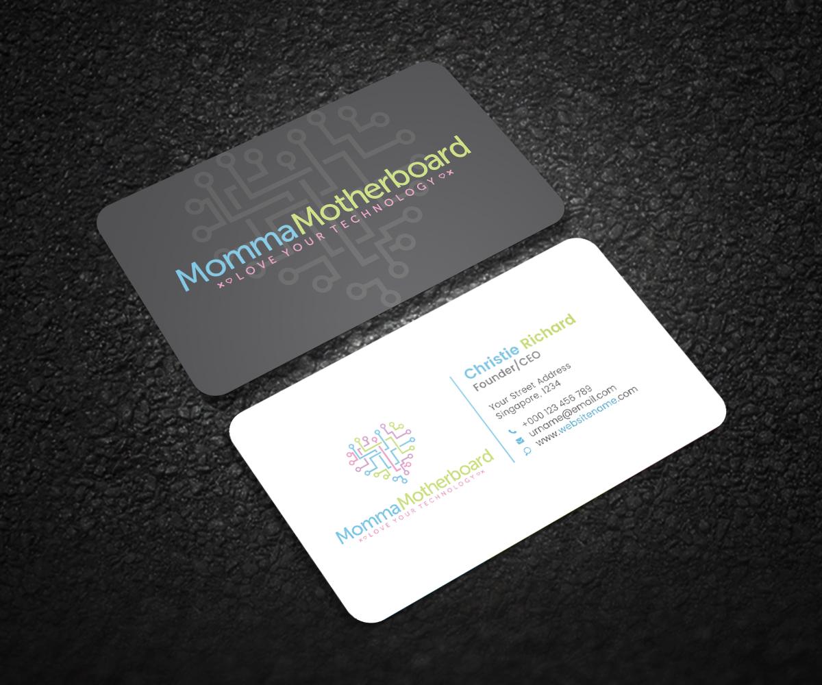 Elegant, Playful, Information Technology Business Card Design for a ...