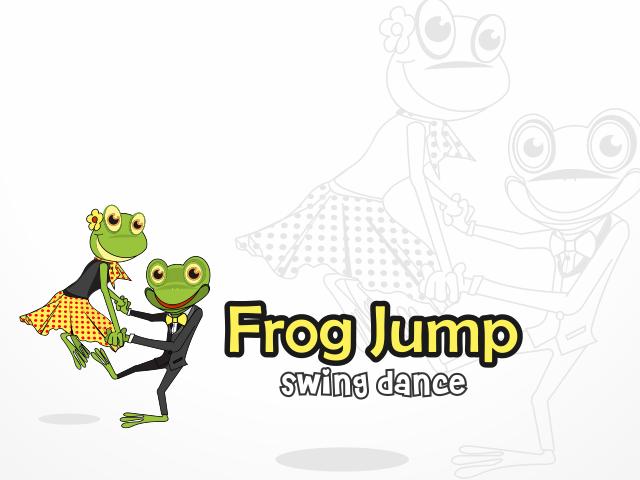 Frog Jump Swing Dance Logo by Blezz Art