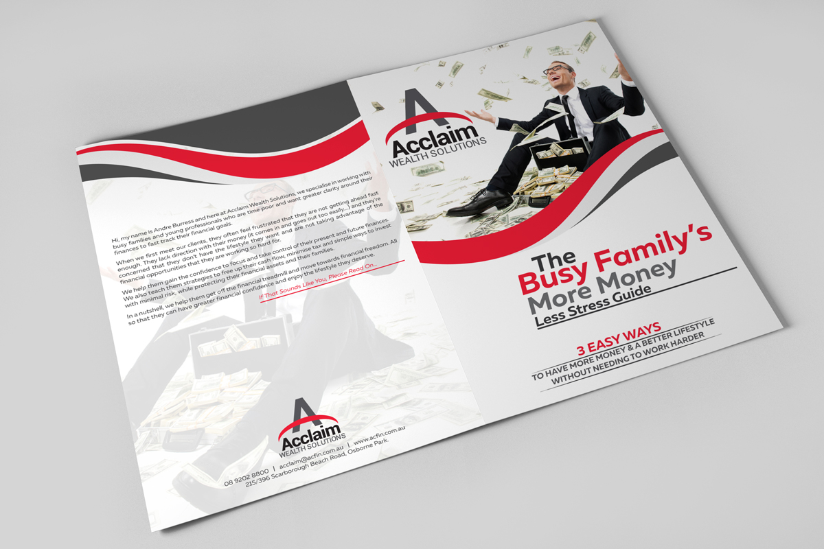 Google Brochure Design For Acclaim Wealth Solutions By Black