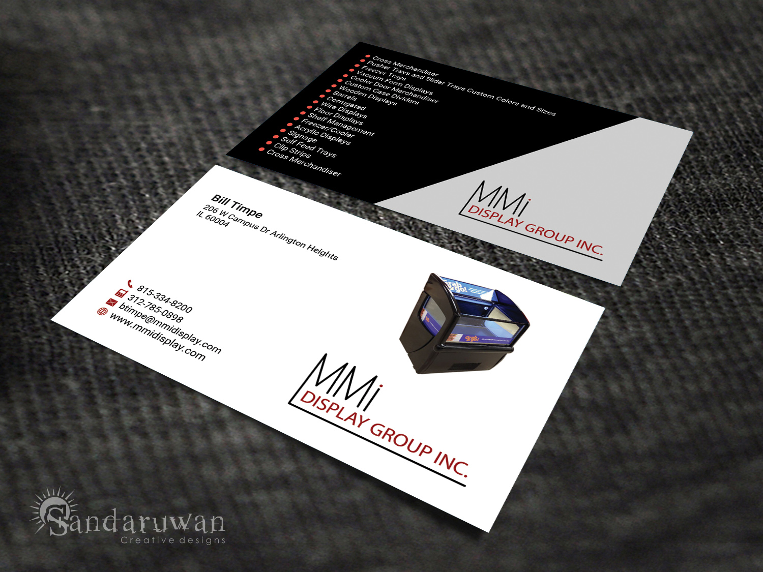 Bold, Serious, Business Business Card Design for MMI DISPLAY GROUP ...