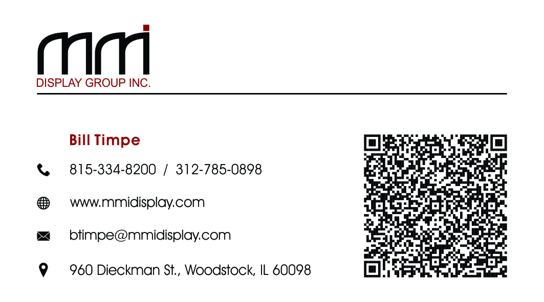 Bold, Serious Business Card Design for MMI DISPLAY GROUP, INC. by KM ...