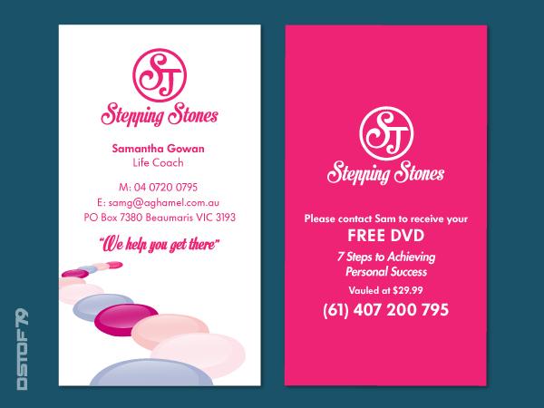 elegant playful business card design design for samantha