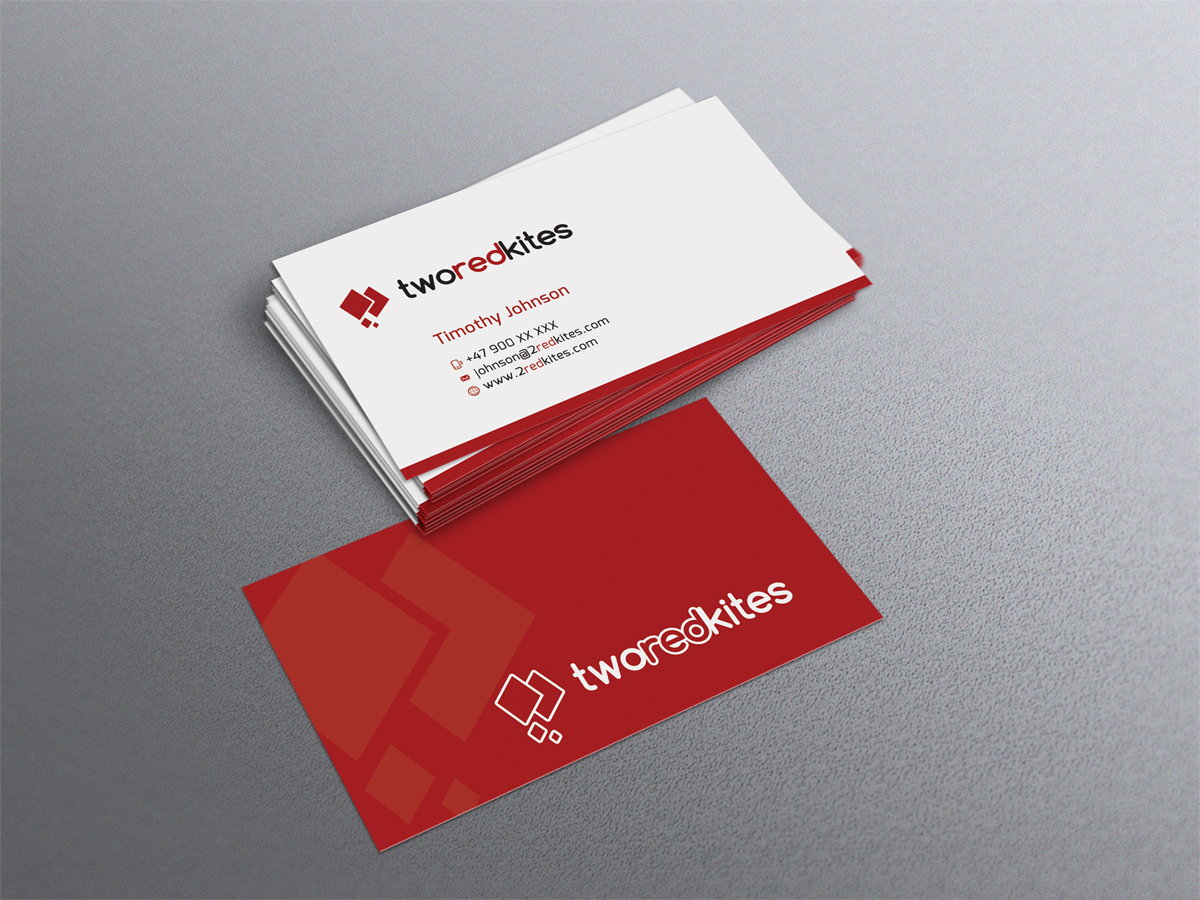 Modern, Professional, Software Business Card Design for 2 Red Kites ...