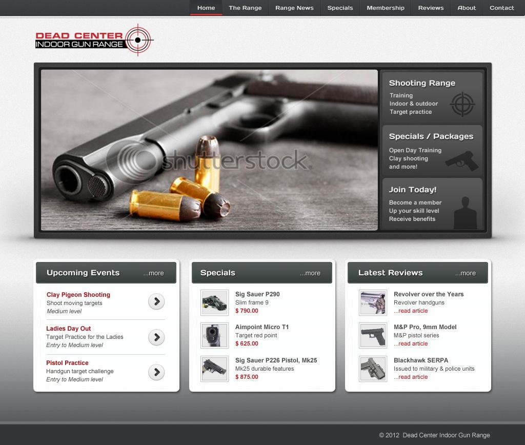 Bold masculine web design for bizproducer by lara for Masculine web design