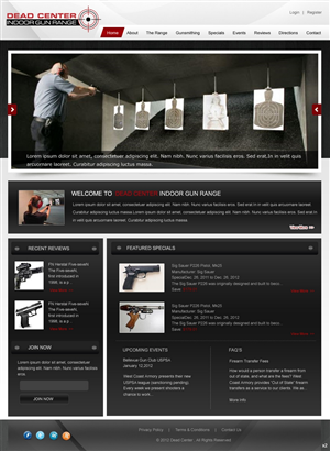 Web Design by pb - Indoor Gun Range Web Design Project