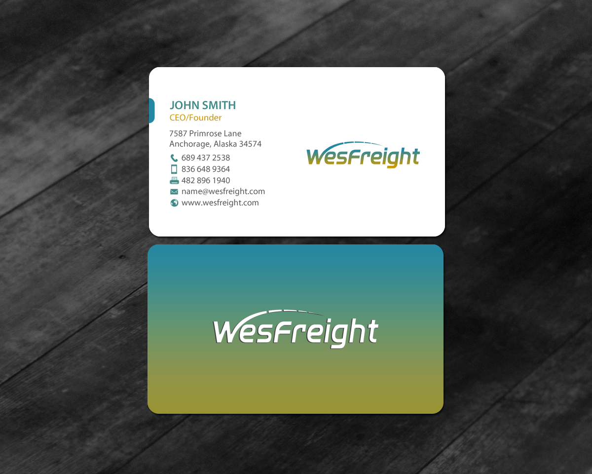 Upmarket, Bold Business Card Design for Wesfreight by chandrayaan ...