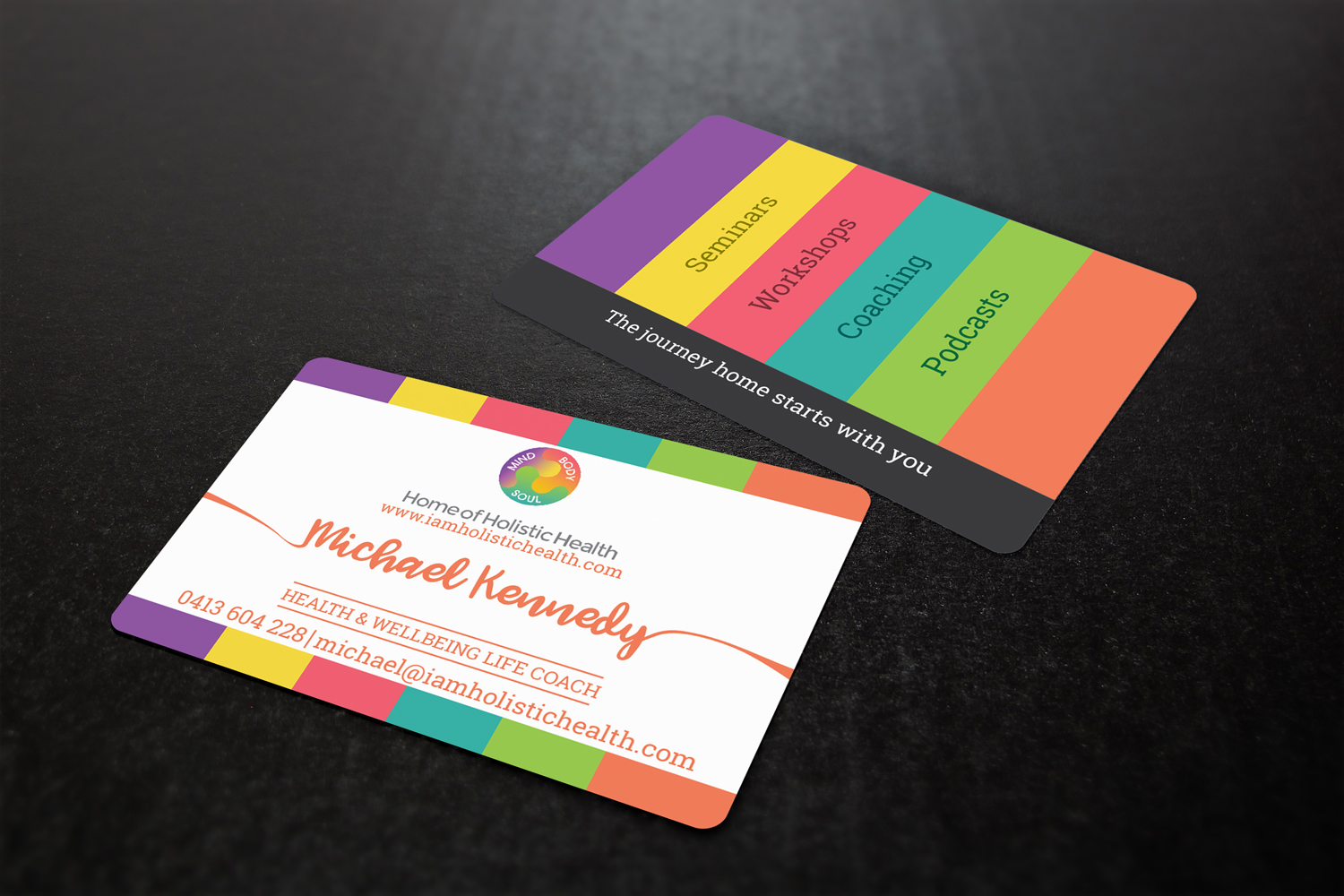 Elegant playful life coaching business card design for home of business card design by mindcraft design for home of holistic health design 14866786 colourmoves