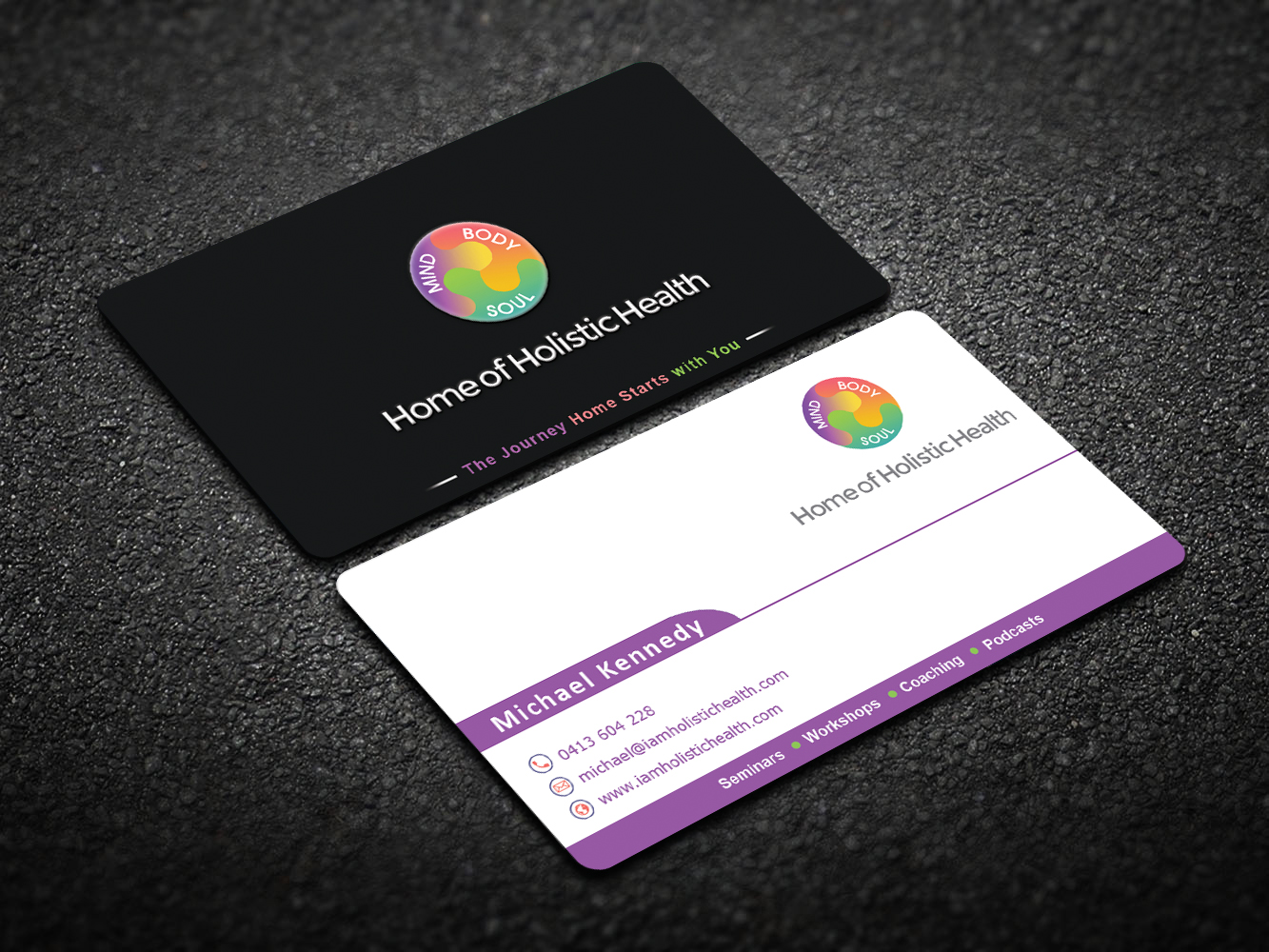 Elegant playful life coaching business card design for home of business card design by imagine box for home of holistic health design 14904483 colourmoves