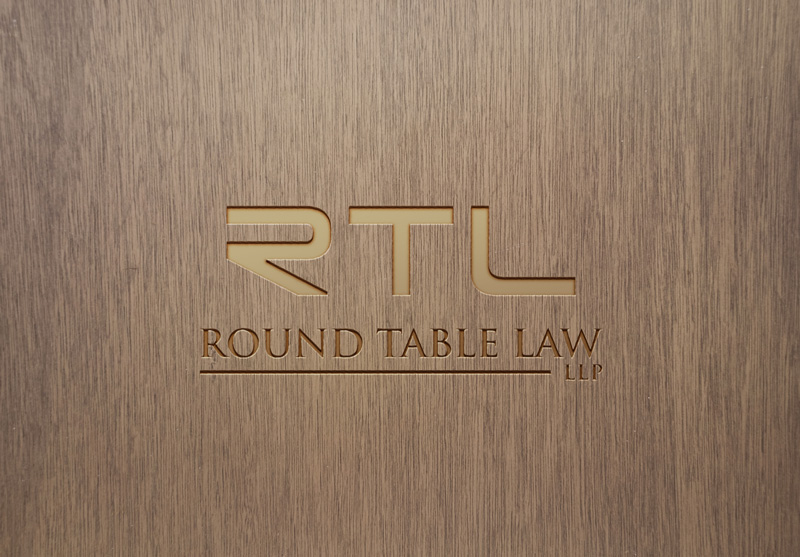 Modern Elegant Law Firm Logo Design, Round Table Law