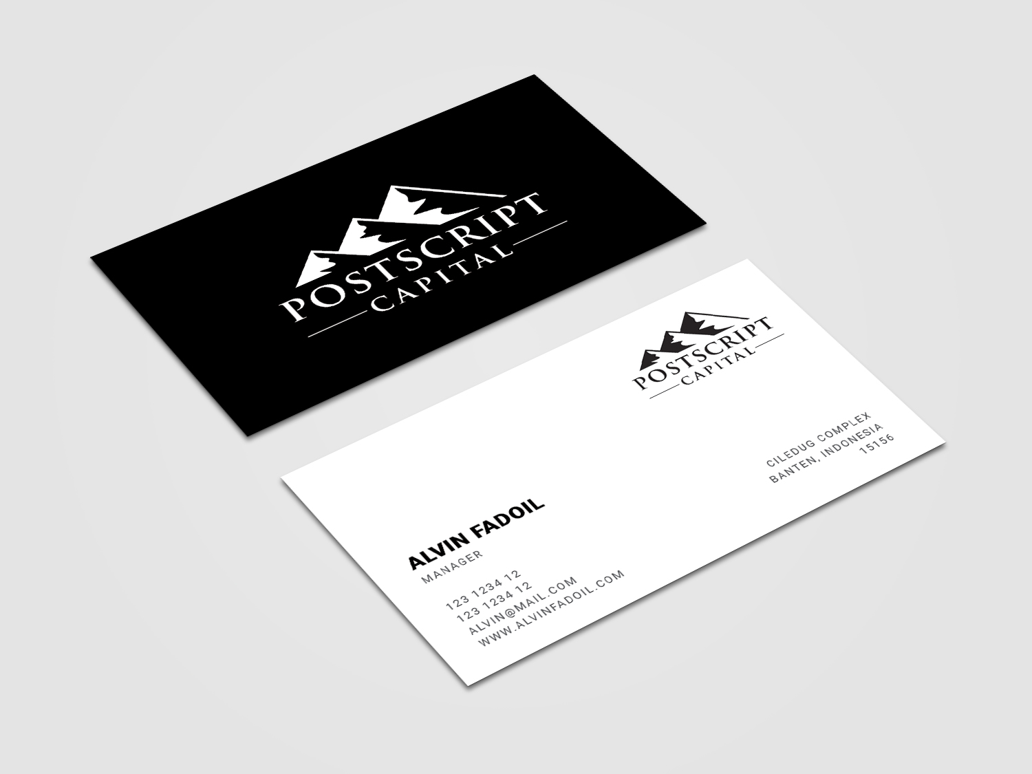 Masculine conservative finance business card design for a company business card design by alvinfadoil for this project design 14614842 reheart Image collections