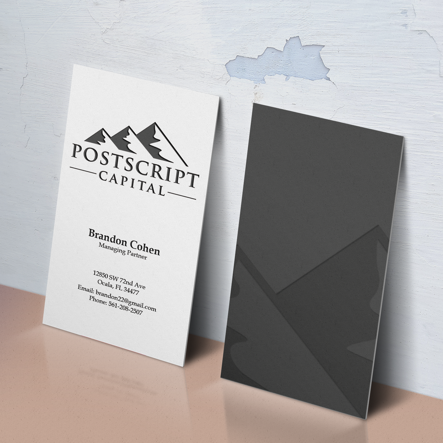 Masculine, Conservative, Finance Business Card Design for a Company ...