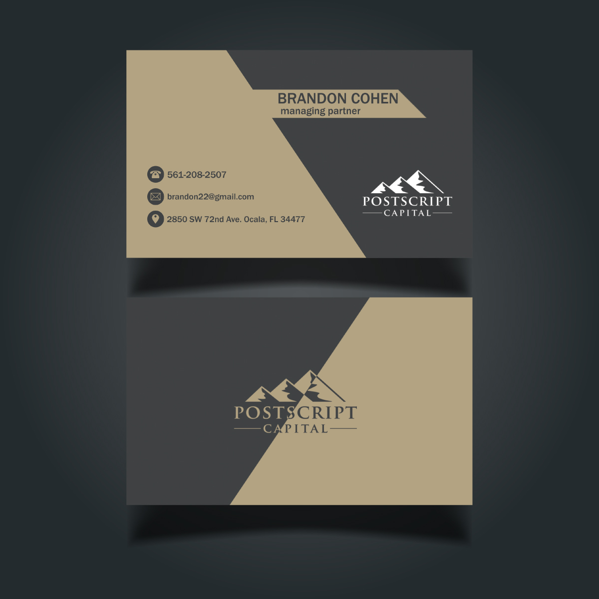 Masculine conservative finance business card design for a company business card design by ralkov for this project design 14634310 reheart Image collections