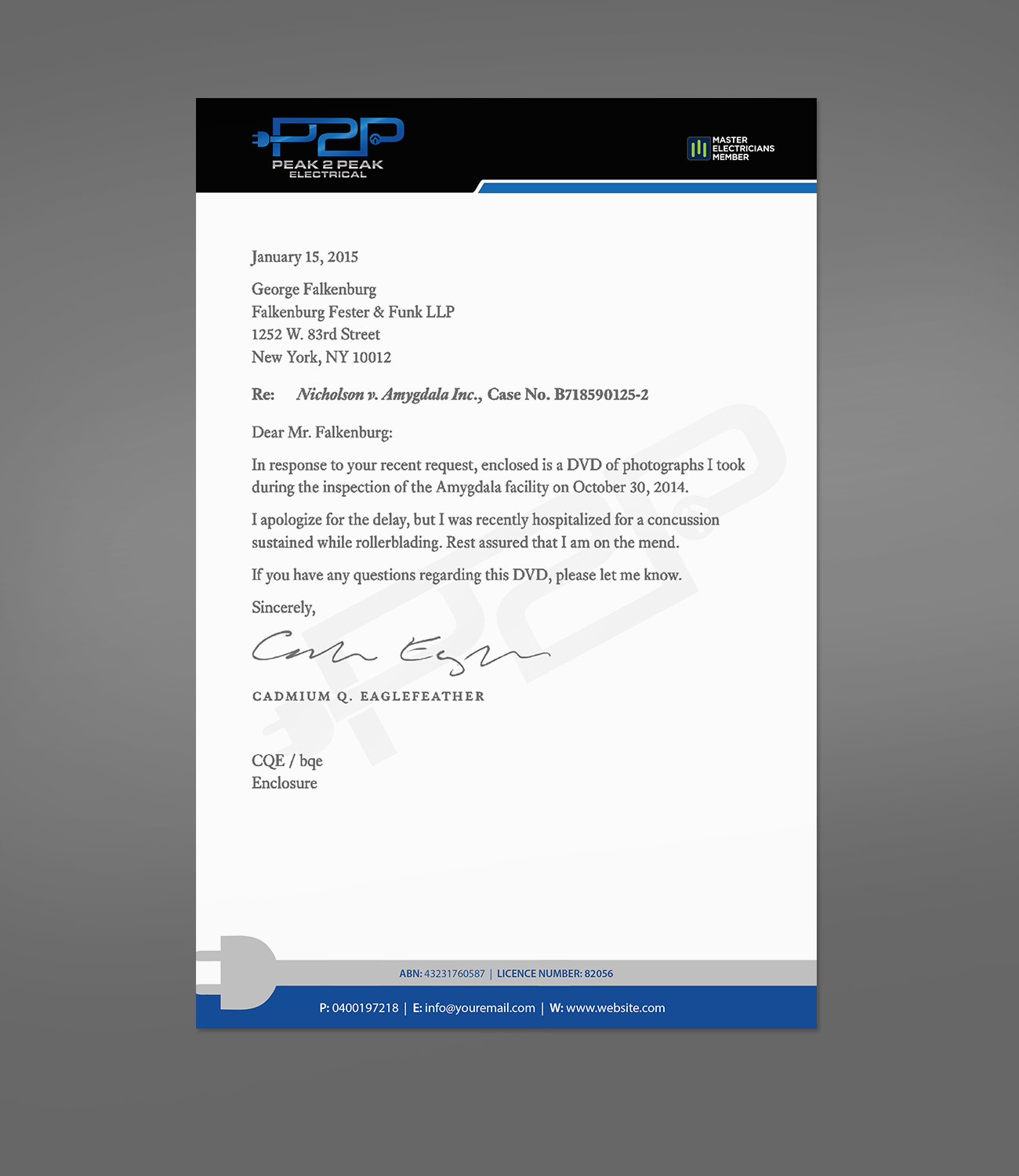 Professional, Bold Letterhead design job. Letterhead brief for ...