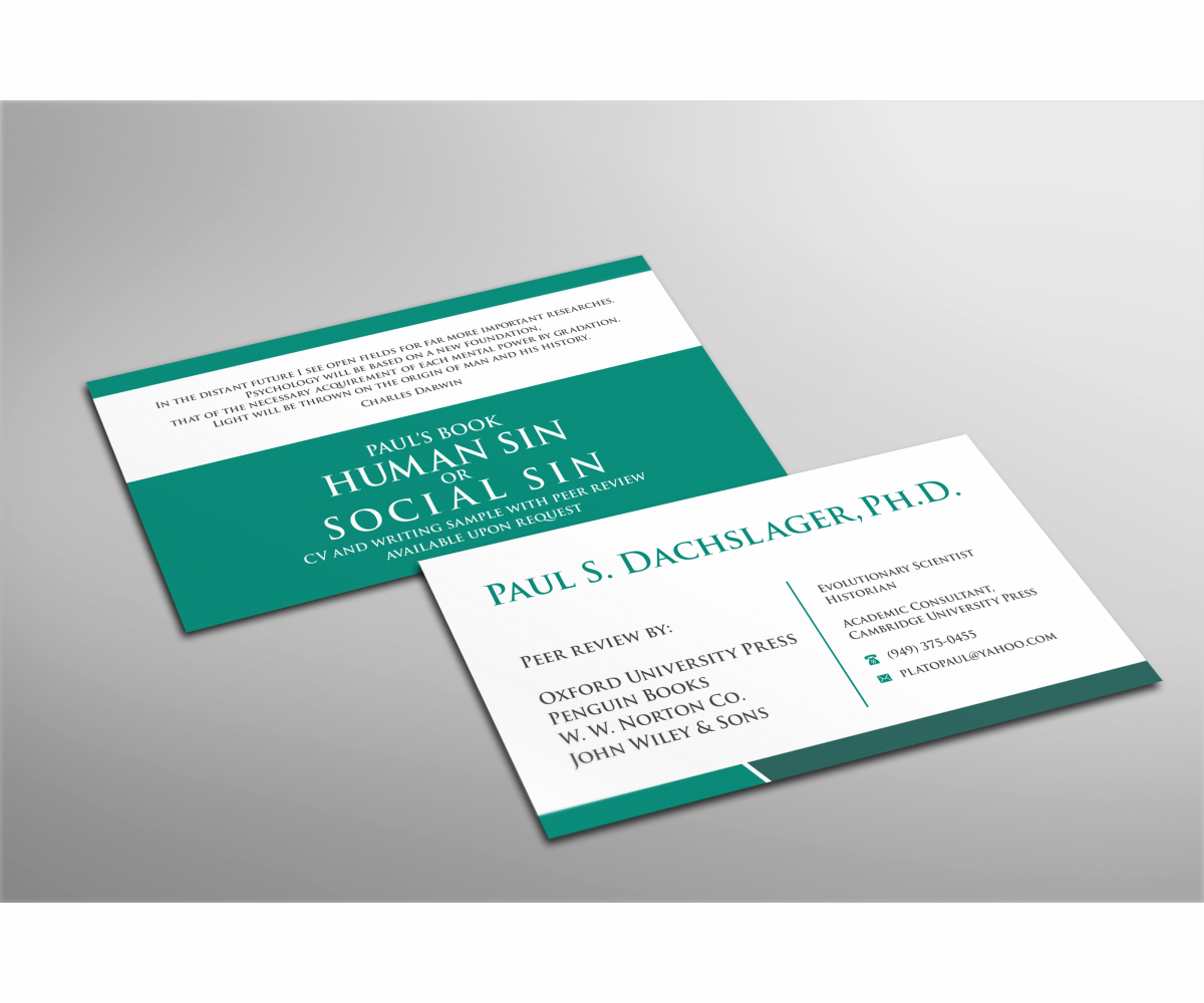 Serious, Professional, Business Business Card Design for a