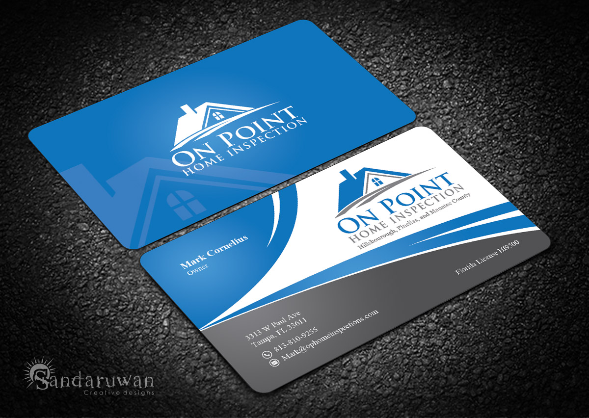 Business Card Design By Sandaruwan For On Point Home Inspection 14644749
