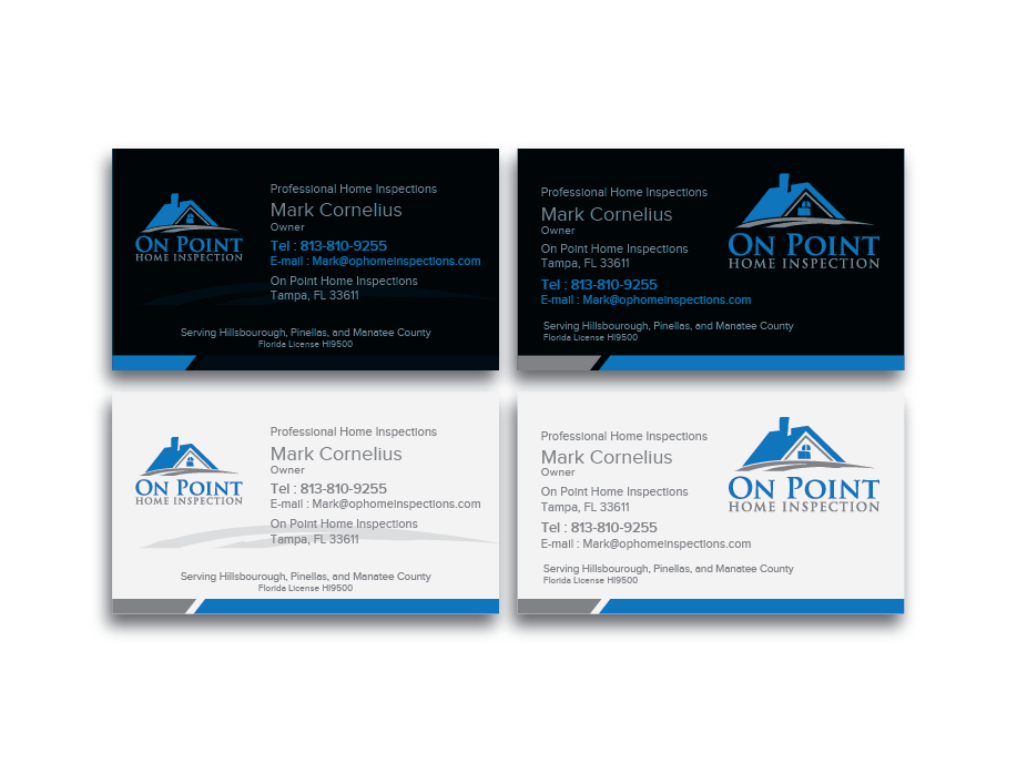 Masculine, Elegant, Home Inspection Business Card Design for On ...