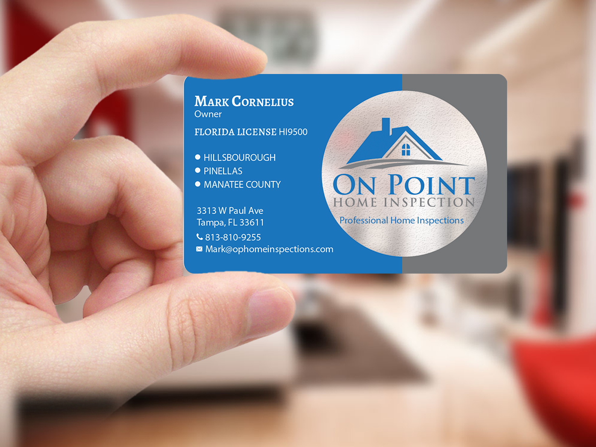 Masculine, Elegant, Home Inspection Business Card Design for On ...