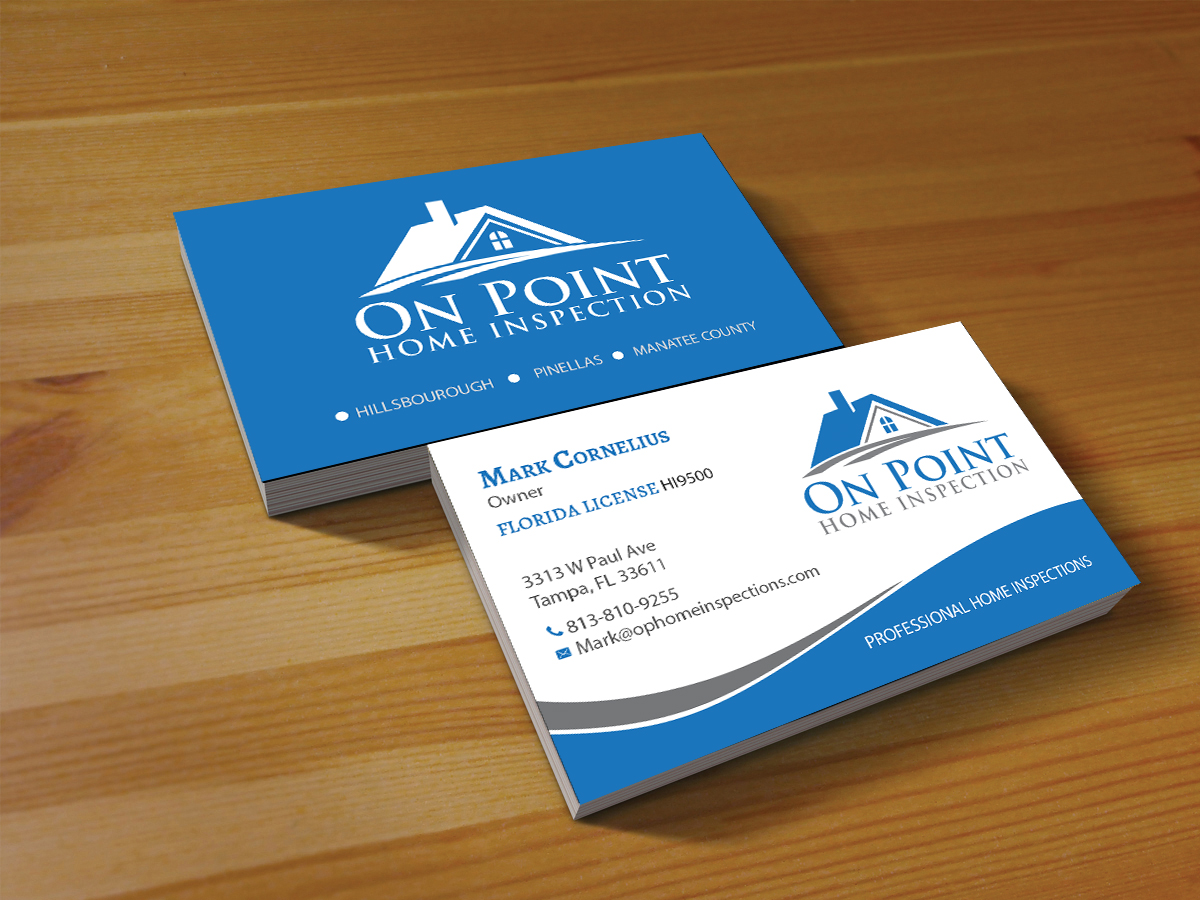 Masculine, Elegant Business Card Design for On Point Home ...