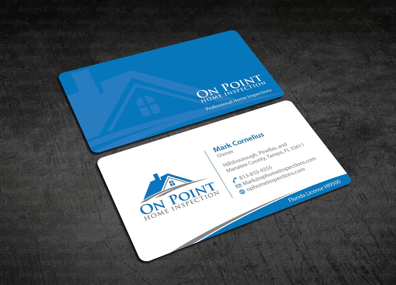 Masculine elegant home inspection business card design for on business card design by designc for on point home inspection design 14640246 colourmoves