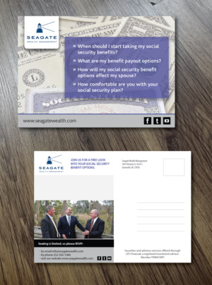 Social Security Seminar 9 Postcard Designs For A Business In United States