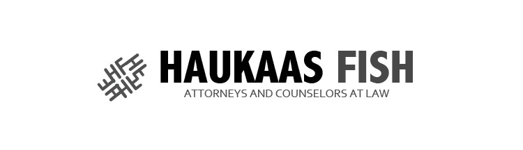 Law firm logo design for haukaas fish by expert designer for Fish law firm