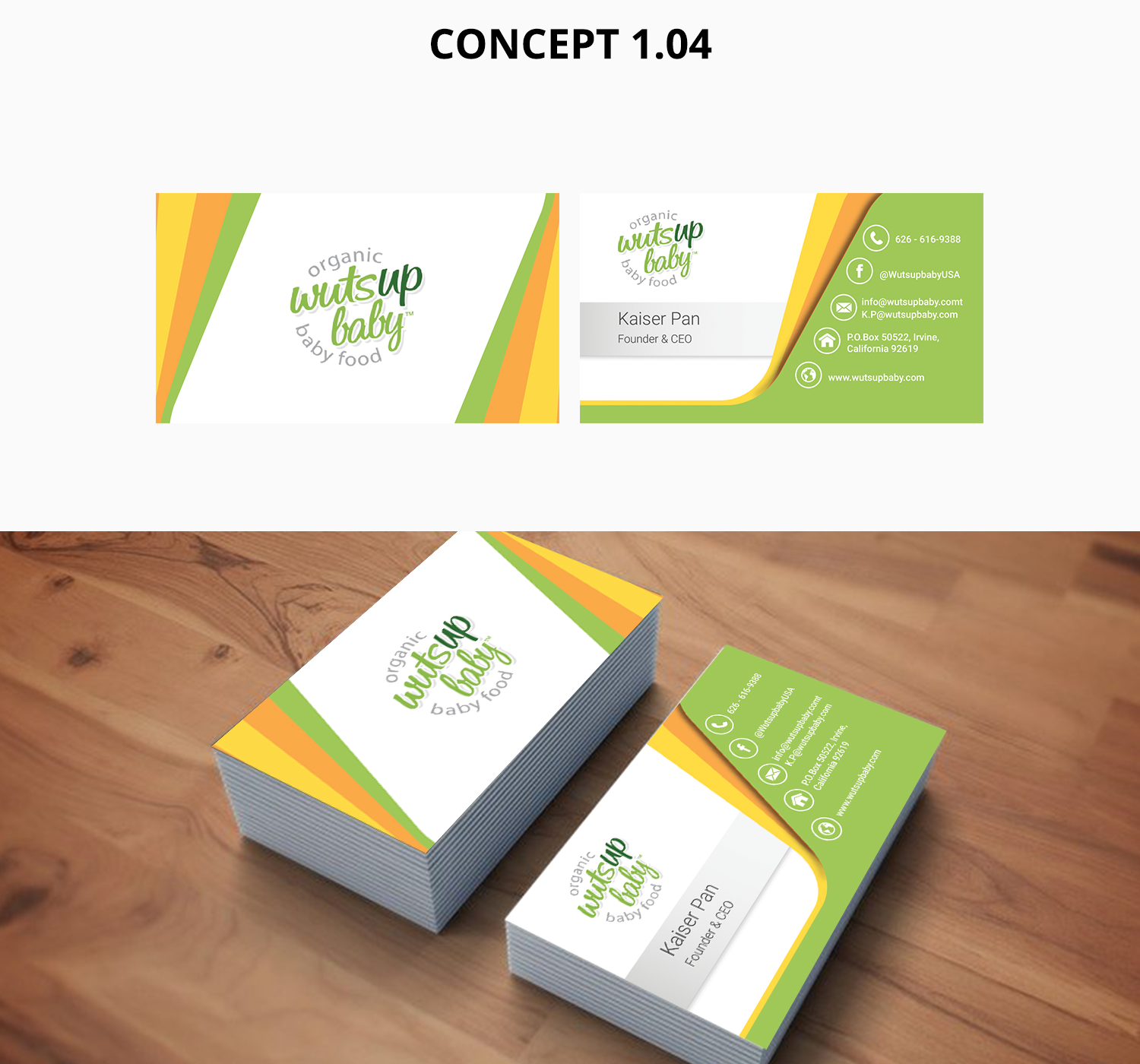 Business Card Design for wutsupbaby by zain.5stardesigner | Design ...
