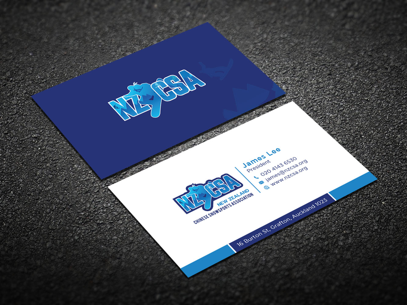 modern professional business card design for james lee by