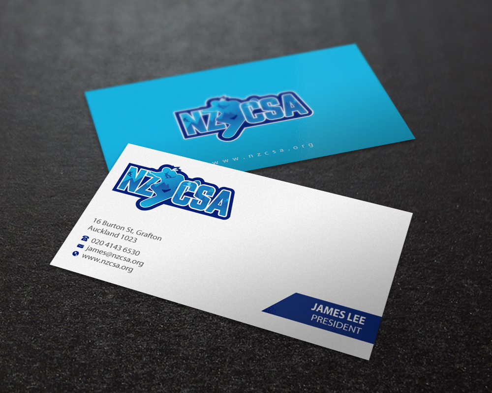 modern professional business card design for james lee by brand