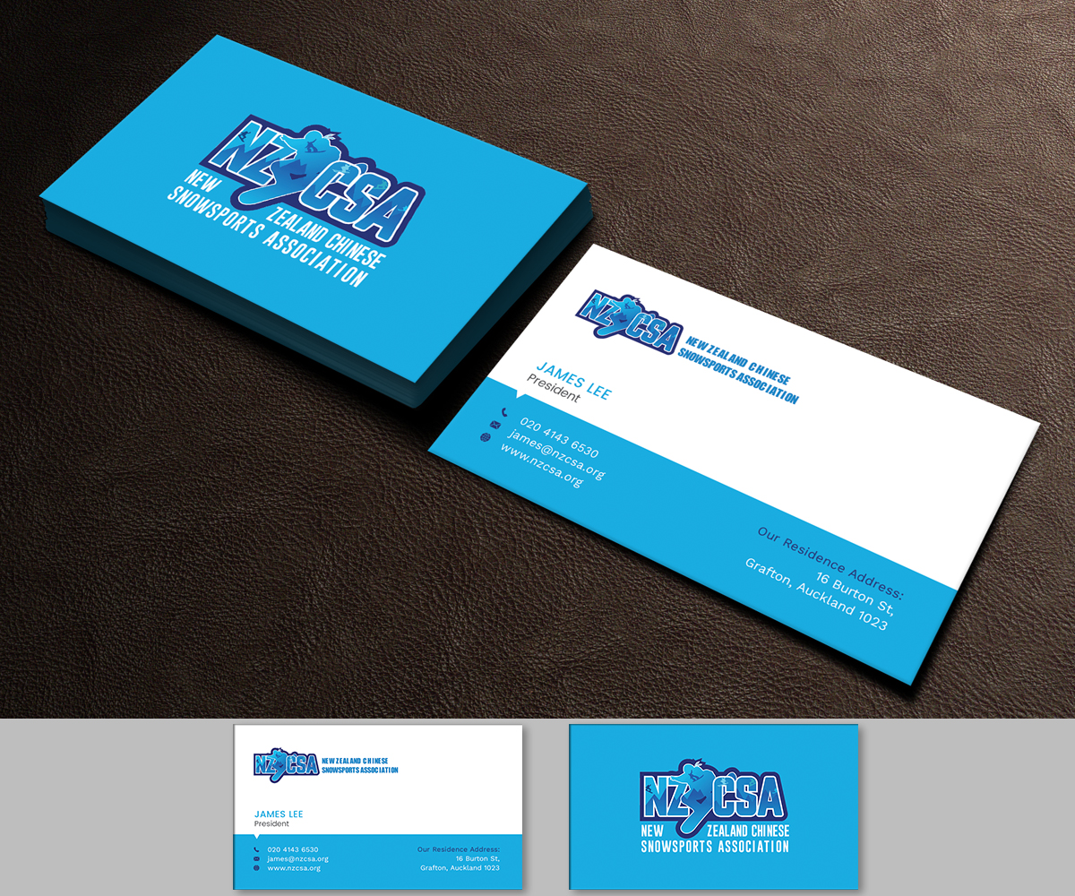 modern professional business card design for james lee by graphic
