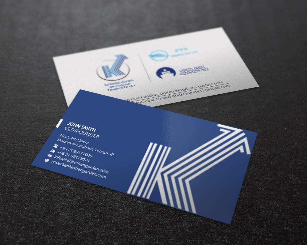 Blue Star Business Cards Gallery - Card Design And Card Template