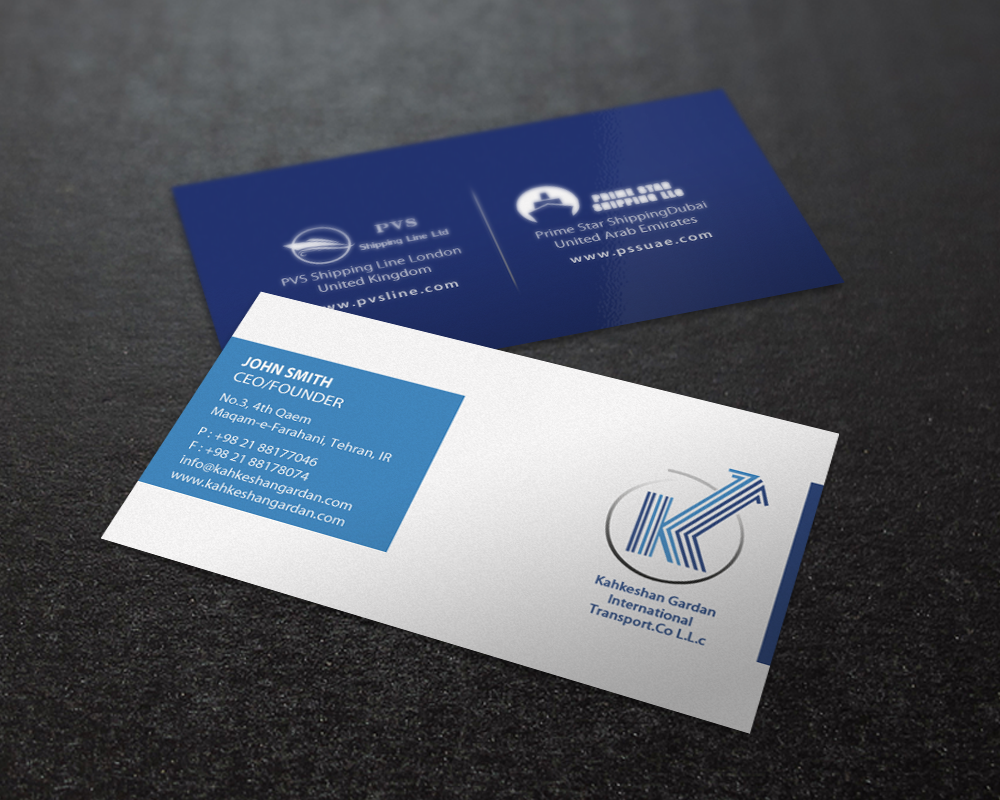 Serious, Modern, Logistics Business Card Design for Prime Star ...