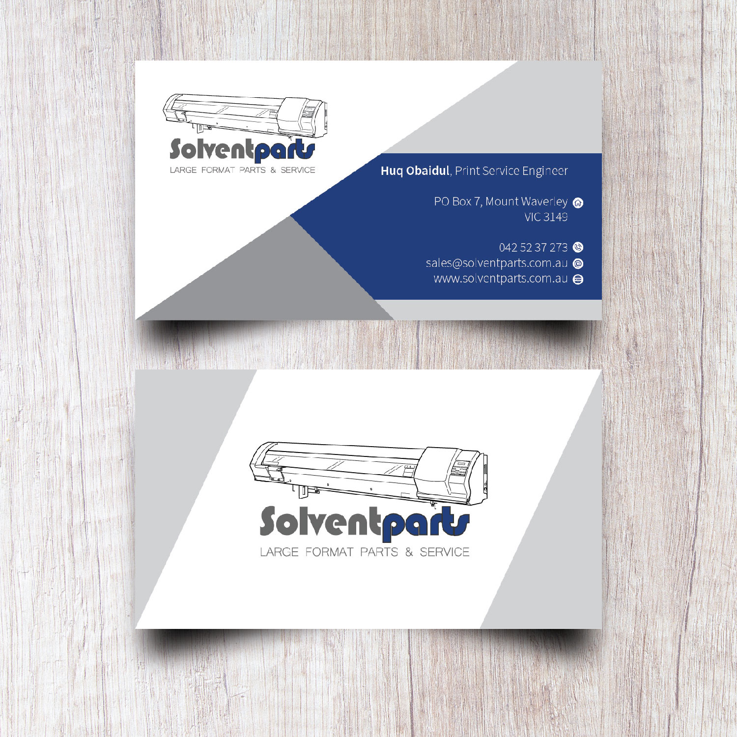 Personable conservative business business card design for business card design by ivan84 for solventparts design 14725736 reheart Image collections