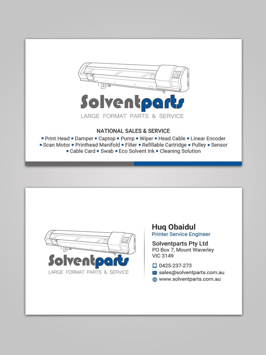 Personable conservative business card design for solventparts by business card design by sandaruwan for solventparts business card design 14715933 reheart Image collections