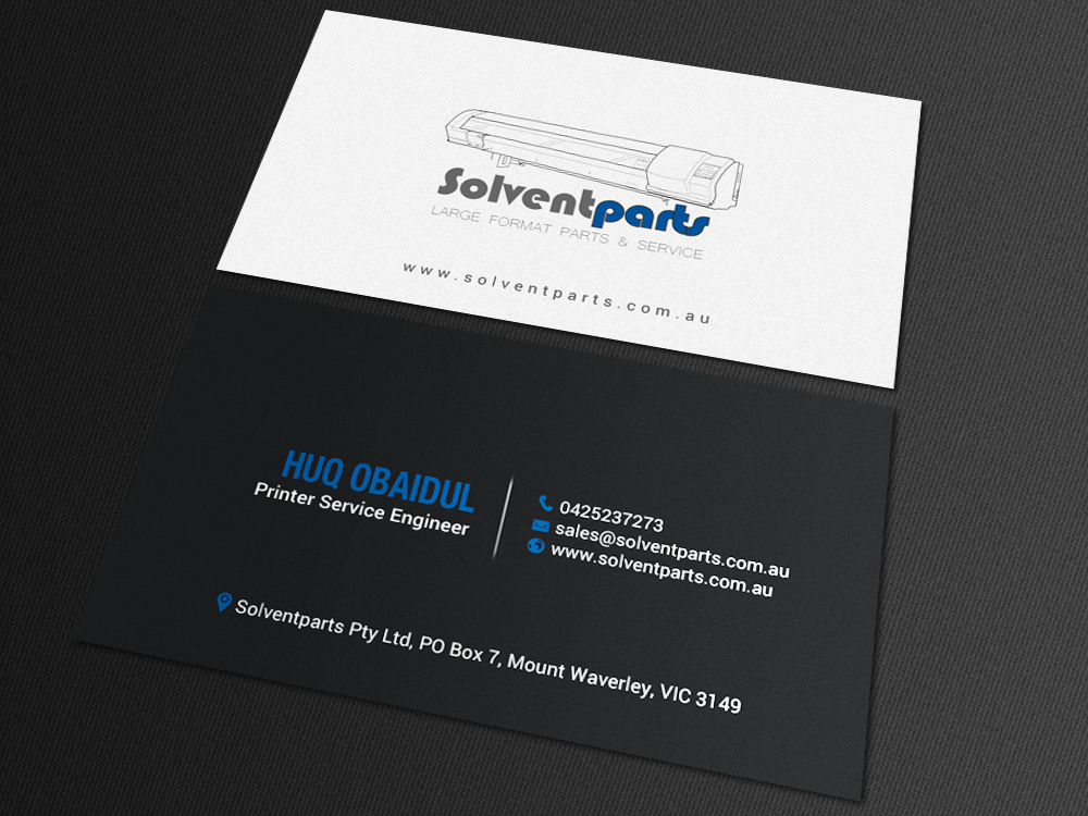 Personable conservative business business card design for business card design by chandrayaaneative for solventparts design 14722944 reheart Image collections