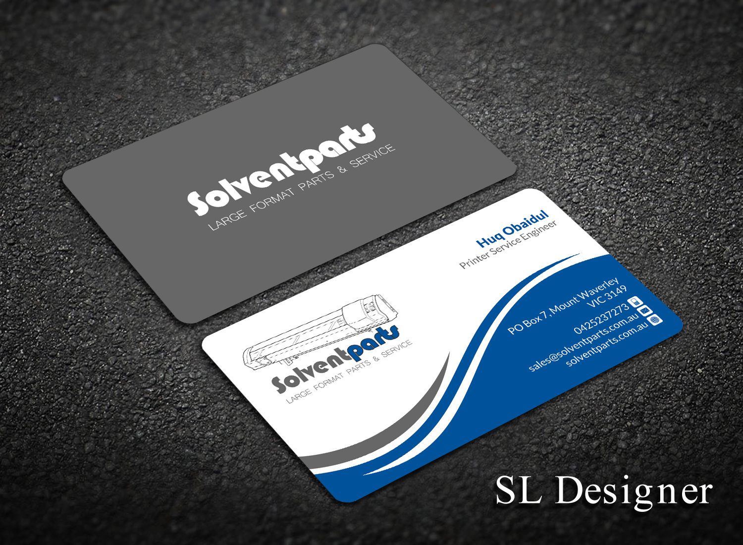 Personable conservative business business card design for business card design by sl designer for solventparts design 14746779 reheart Image collections