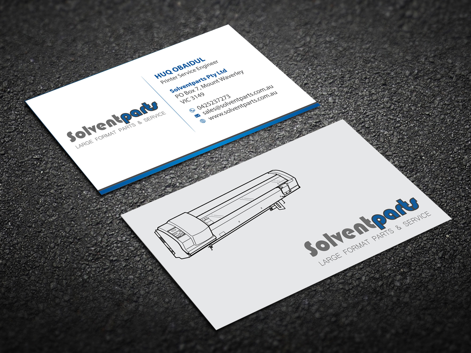 Personable conservative business business card design for business card design by madhuraminfotech for solventparts design 14719005 reheart Image collections