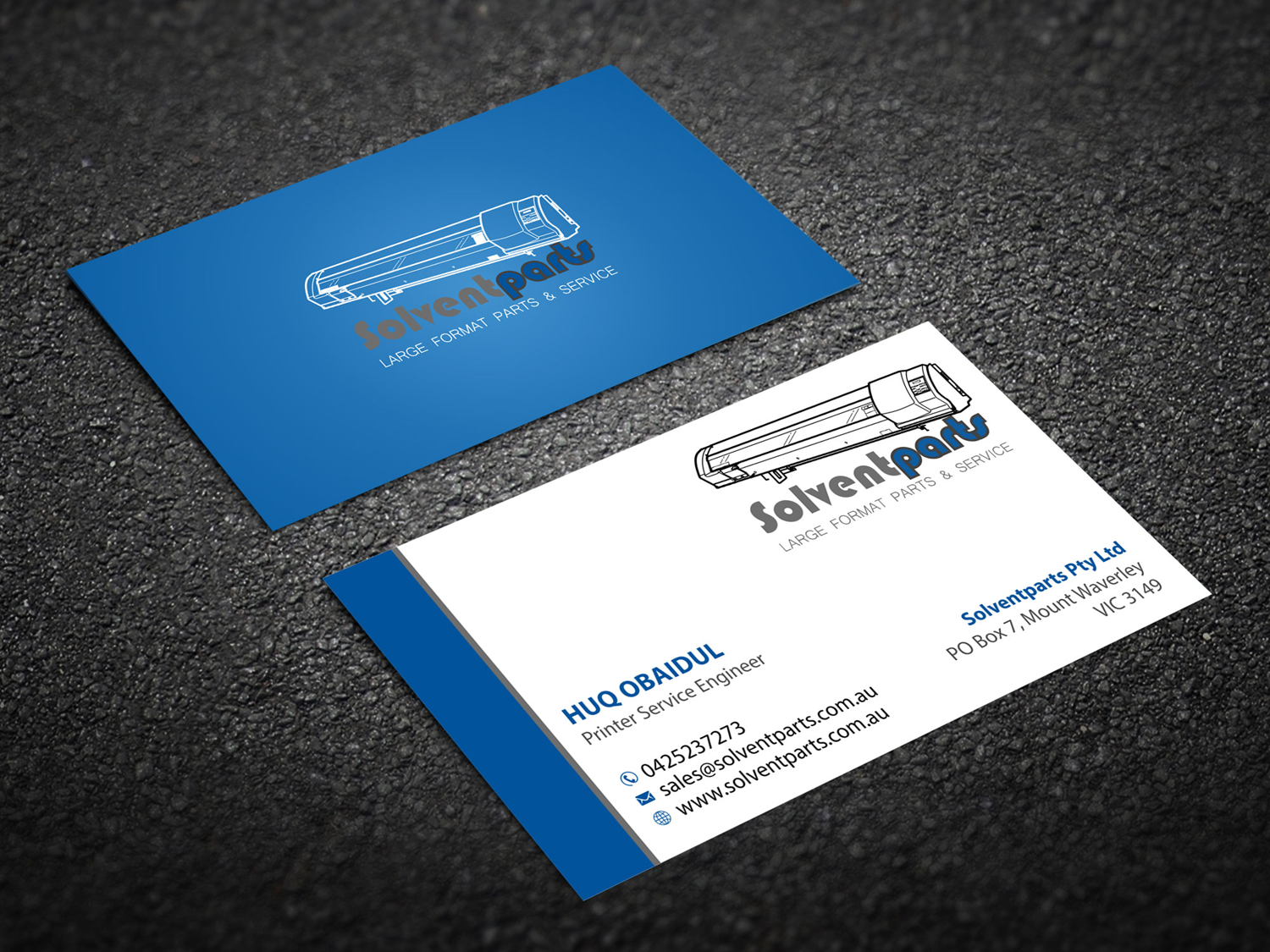 Personable conservative business business card design for business card design by madhuraminfotech for solventparts design 14719014 reheart Image collections